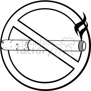 No smoking sign black and white clipart picture library royalty free rf clipart illustration no smoking sign black and white vector  illustration isolated on white background . Royalty-free clipart # 399652 picture library