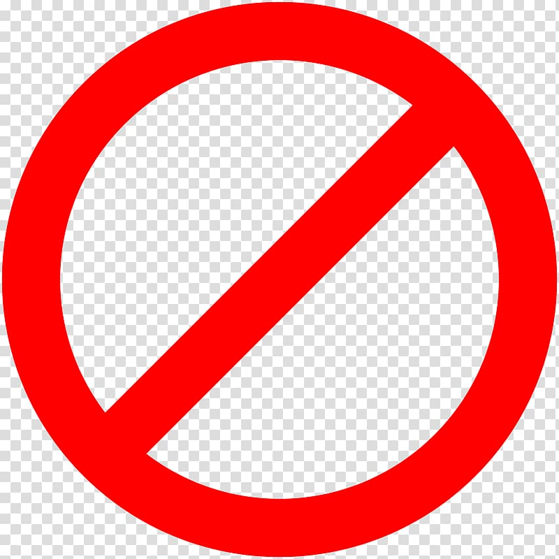 No clipart transparent image transparent library No symbol Sign , sign stop transparent background PNG ... image transparent library