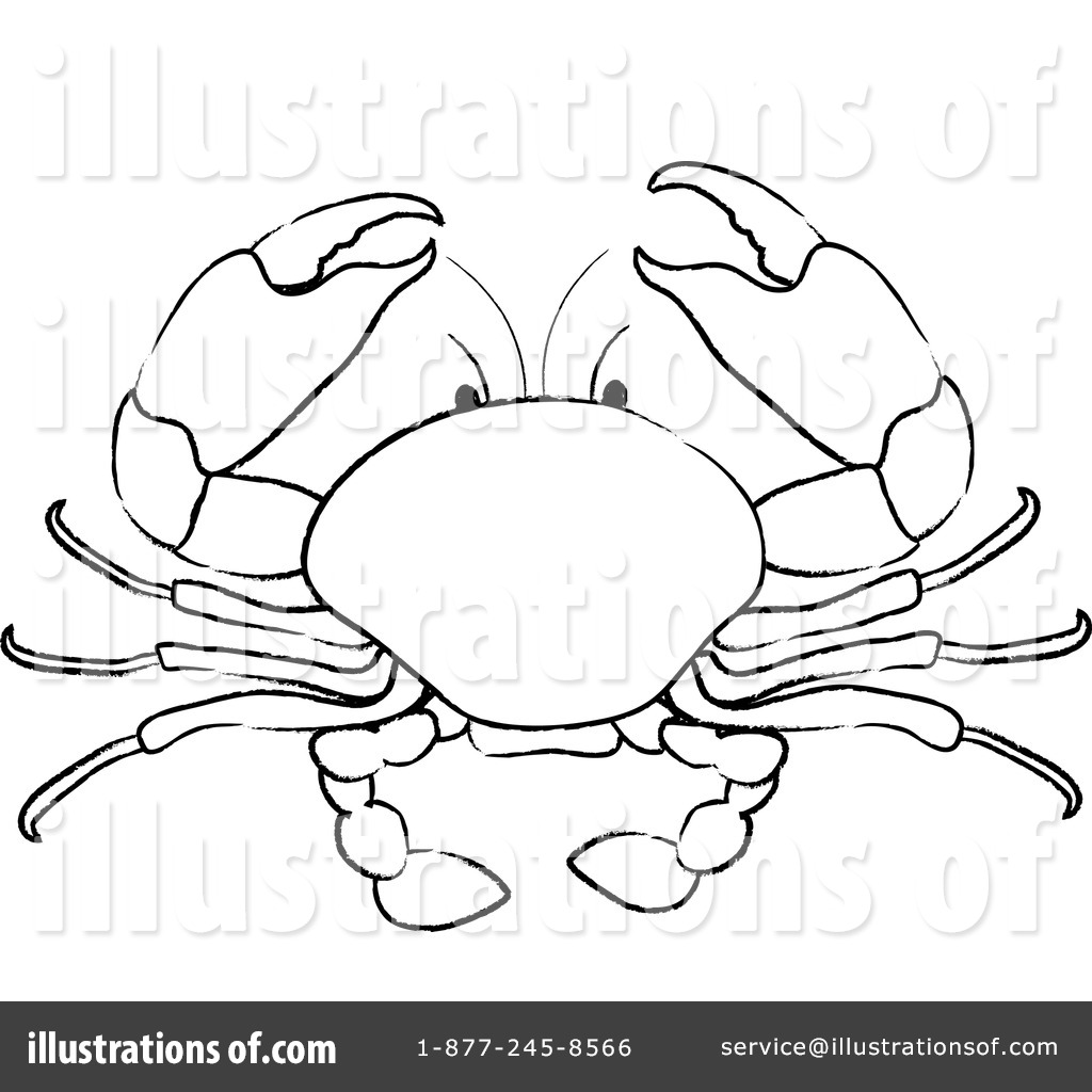 No copyright crab clipart black and white clip art transparent library Crab Clipart #100573 - Illustration by Pams Clipart clip art transparent library