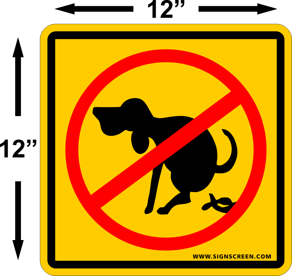No dog poop clipart free svg stock NO DOG POOPING signs 12