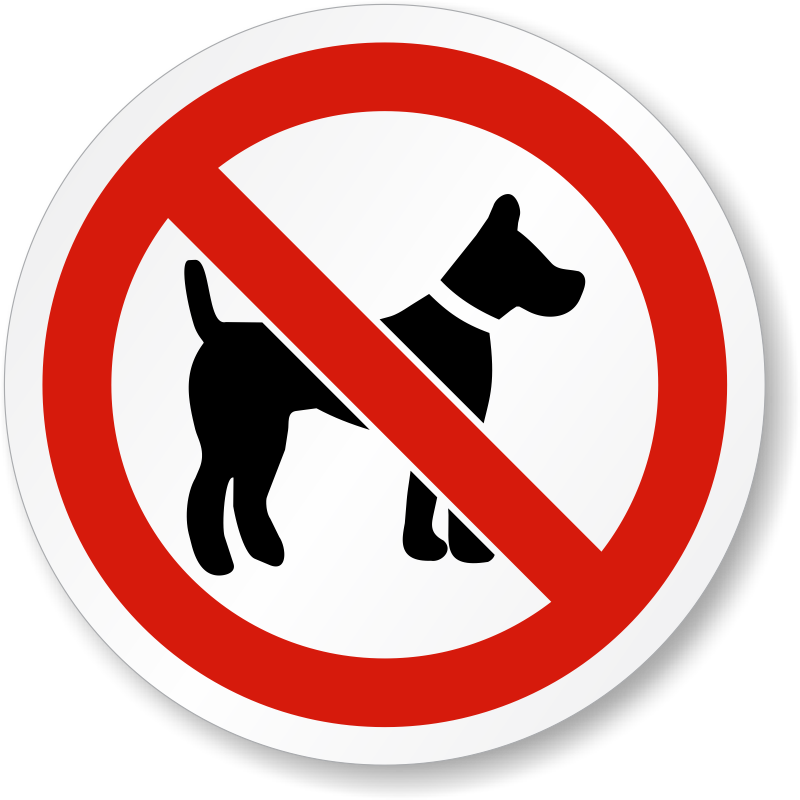 No dog poop clipart free png library library No Dog Allowed Symbol Label | ISO Prohibition, SKU: LB-2193 png library library
