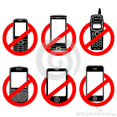 No electronics clipart clip No Cell Phone Prohibited Forbidden Not Allowed Stock Illustrations ... clip