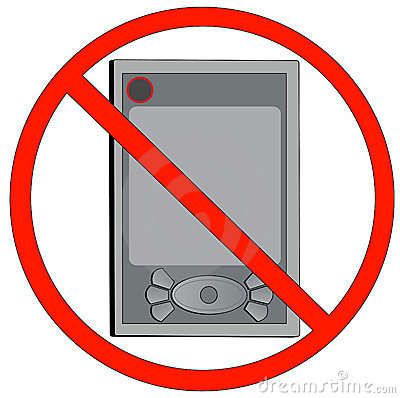 No electronics clipart graphic black and white download No Electronics Clipart graphic black and white download