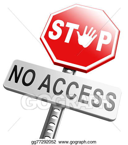 No entrance clipart jpg black and white stock Drawing - Stop no access. Clipart Drawing gg77292052 - GoGraph jpg black and white stock