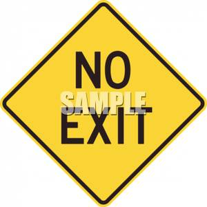 No exit clipart jpg royalty free download Yellow No Exit Caution Sign - Royalty Free Clipart Picture jpg royalty free download