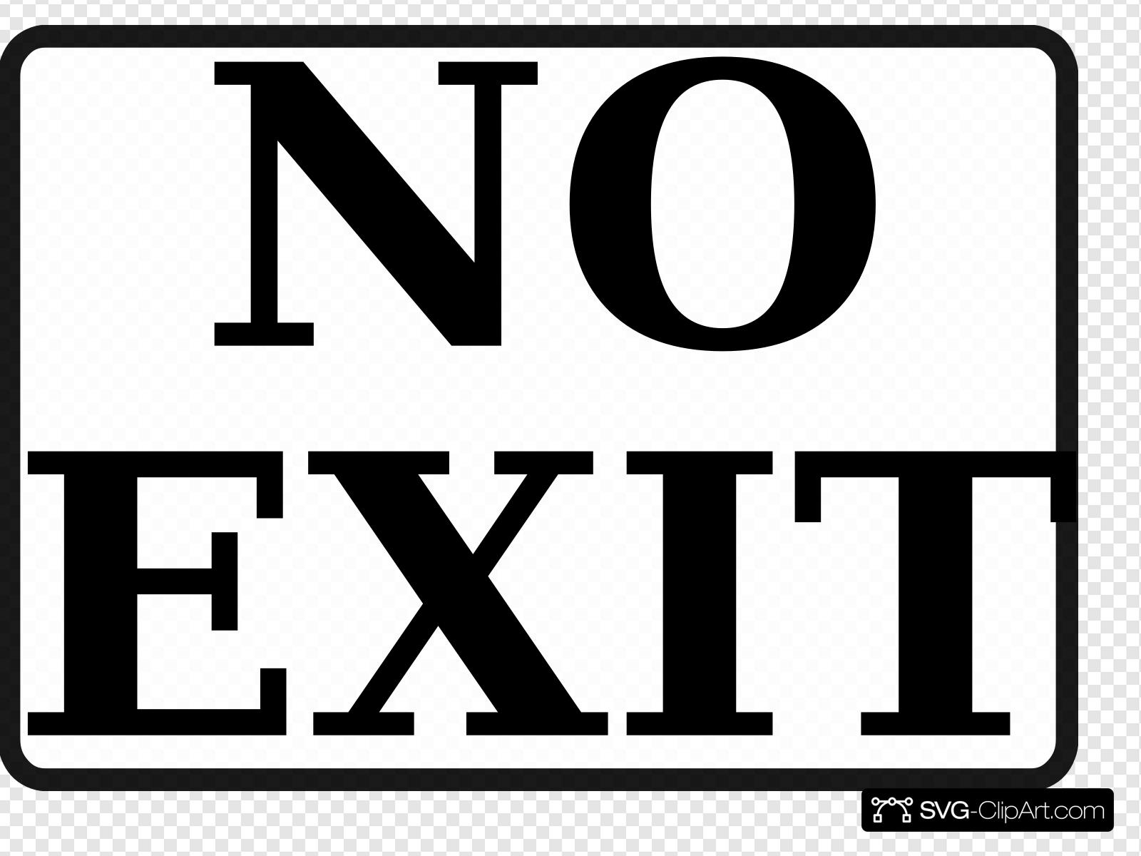 No exit clipart clip free download No Exit Sign 2 Clip art, Icon and SVG - SVG Clipart clip free download