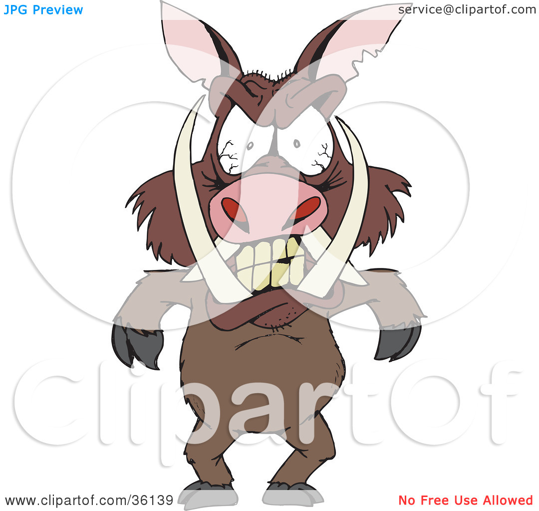 No eyes blood clipart banner library download Clipart Illustration of a Mad Boar With Tusks And Blood Shot Eyes ... banner library download
