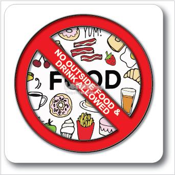 No food or drinks allowed clipart banner free download NO OUTSIDE FOOD & DRINKS ALLOWED ACRYLIC SIGN 110x110mm banner free download
