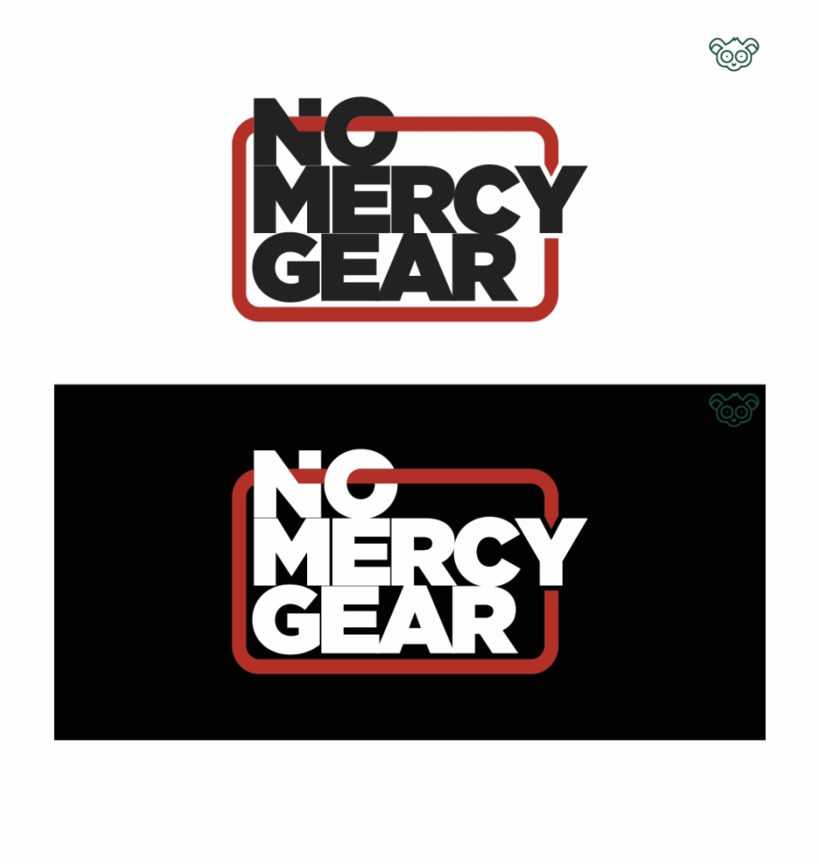 No mercy logo clipart banner Logo Design By Green Tarsier For No Mercy Gear - Graphic ... banner