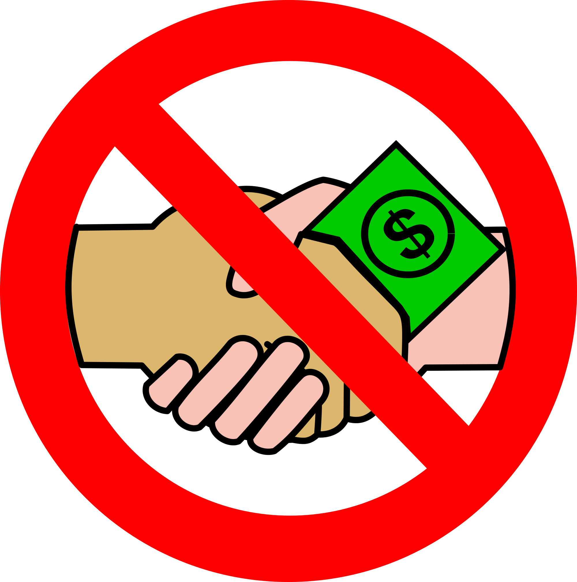 No money clipart free png black and white stock File:A no money handshake.svg - Wikimedia Commons png black and white stock
