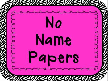 No name clipart download Classroom Sign - No Name Papers download