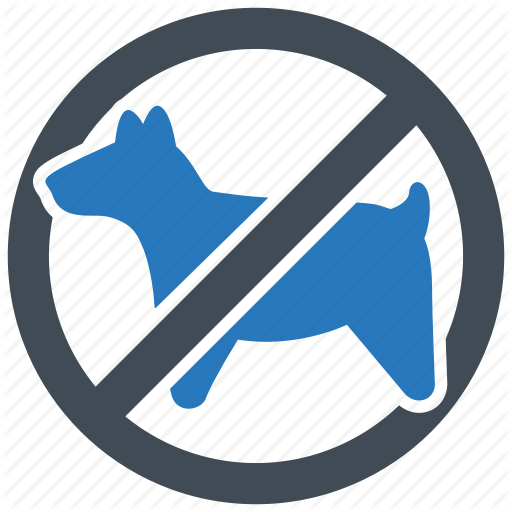 No pets allowed clipart picture black and white library \'Hotel & Vacation - Blue gray glyph\' by Minh Do picture black and white library