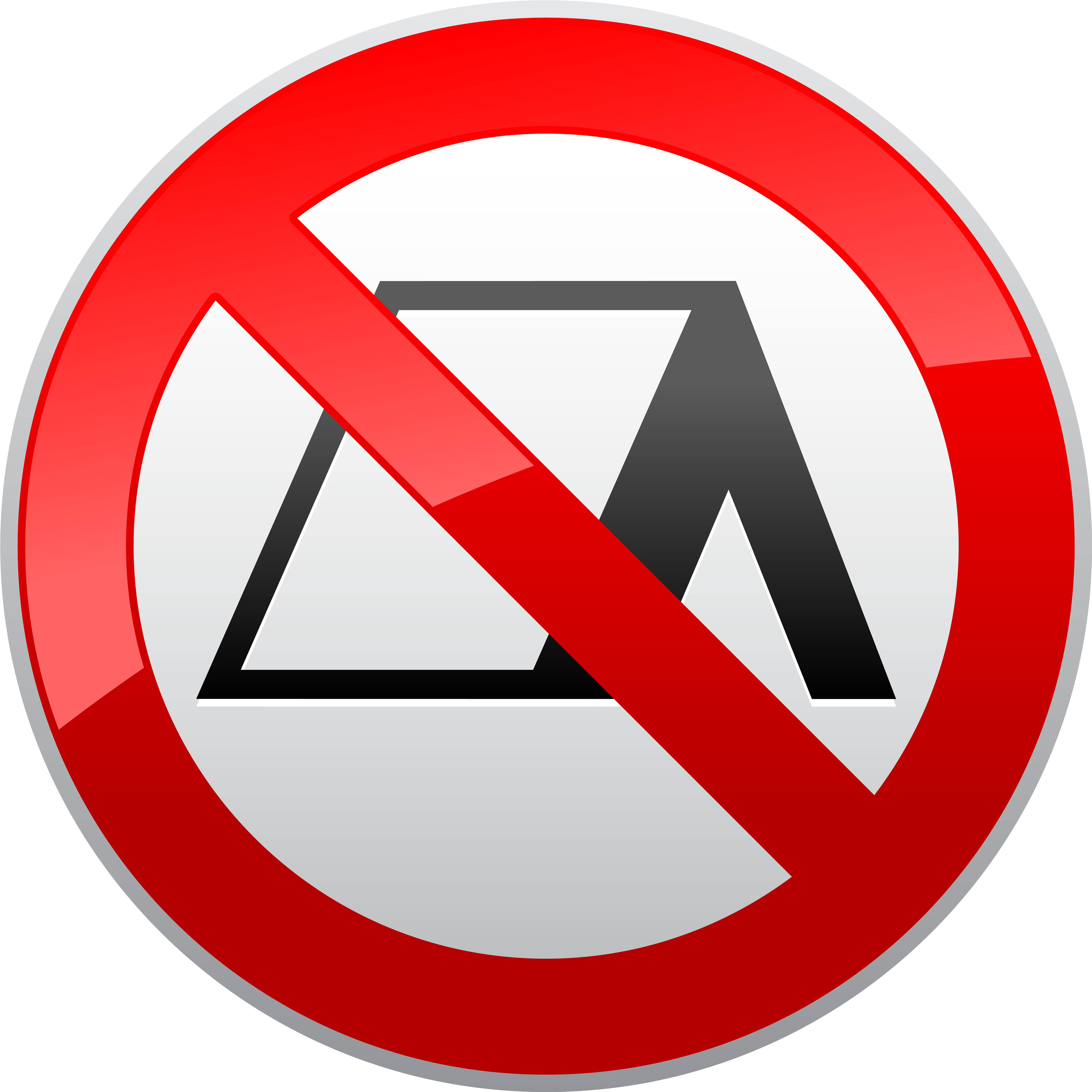 No photo available clipart jpg freeuse library No Camping Prohibition Sign Png Clipart Transparent Png ... jpg freeuse library