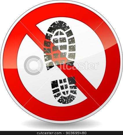 No shoes clipart clip art transparent stock no shoes walking sign stock vector clip art transparent stock