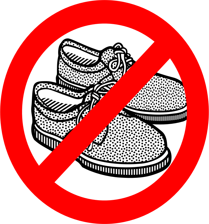 No shoes clipart clipart black and white stock Download Free png No Shoes - DLPNG.com clipart black and white stock