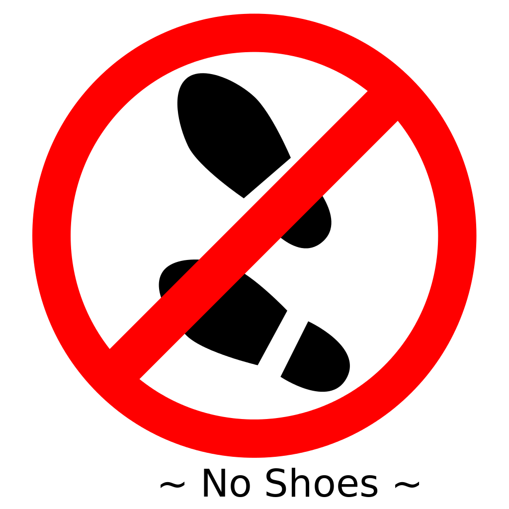 No shoes clipart royalty free File:No Shoes.svg - Wikipedia royalty free