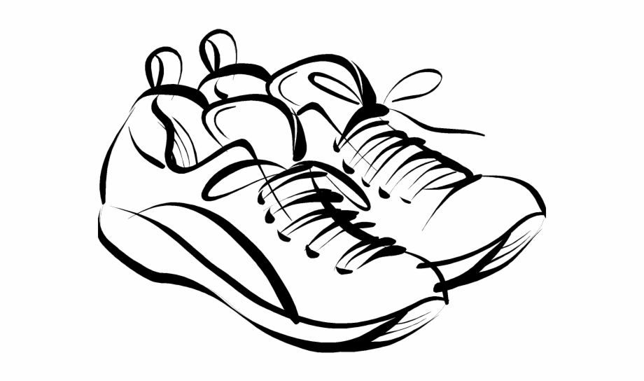 No shoes clipart picture black and white stock Running Shoes Clipart Volleyball Shoe - Rest Day No Running ... picture black and white stock