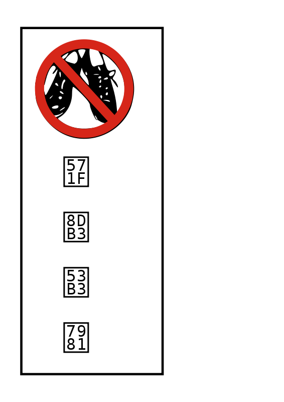 No shoes clipart svg free download Free Clipart: No shoes allowed (japanese) | techno2 svg free download