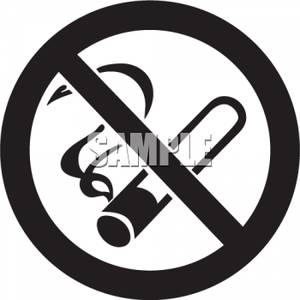 No smoking sign black and white clipart clip freeuse library Black and White No Smoking Sign - Royalty Free Clipart Picture clip freeuse library