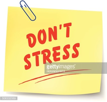 No stress clipart image black and white stock Vector NO Stress Message premium clipart - ClipartLogo.com image black and white stock