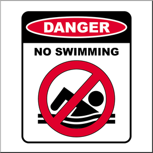 No swimming sign clipart picture freeuse Clip Art: Signs: Danger No Swimming Color I abcteach.com ... picture freeuse