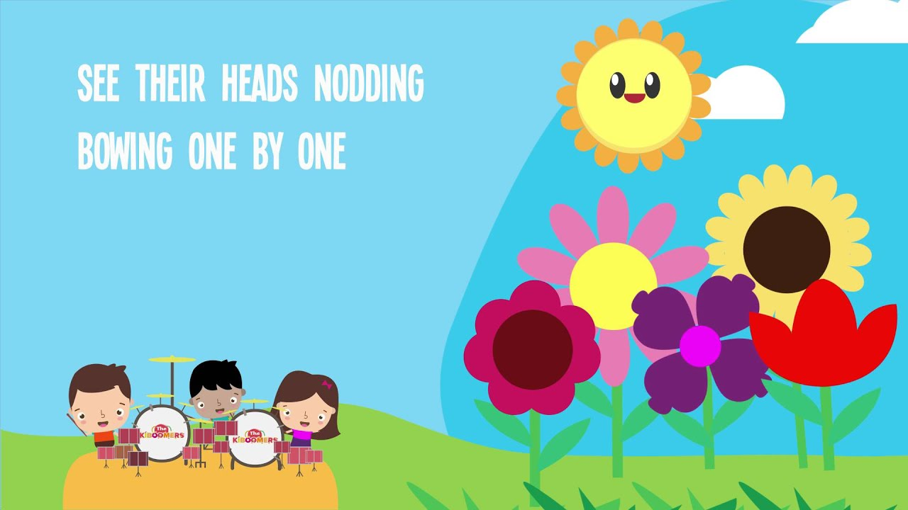 No time pick up kids from school clipart black and white 5 Little Flowers Song for Kids With Lyrics | Flower Songs for Children |  The Kiboomers black and white