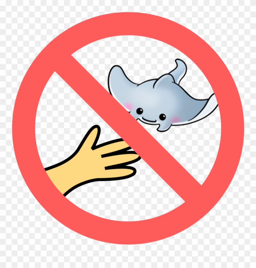 No touching clipart vector library download No Touching Or Chasing Marine Life - Do Not Walk In Shoes ... vector library download