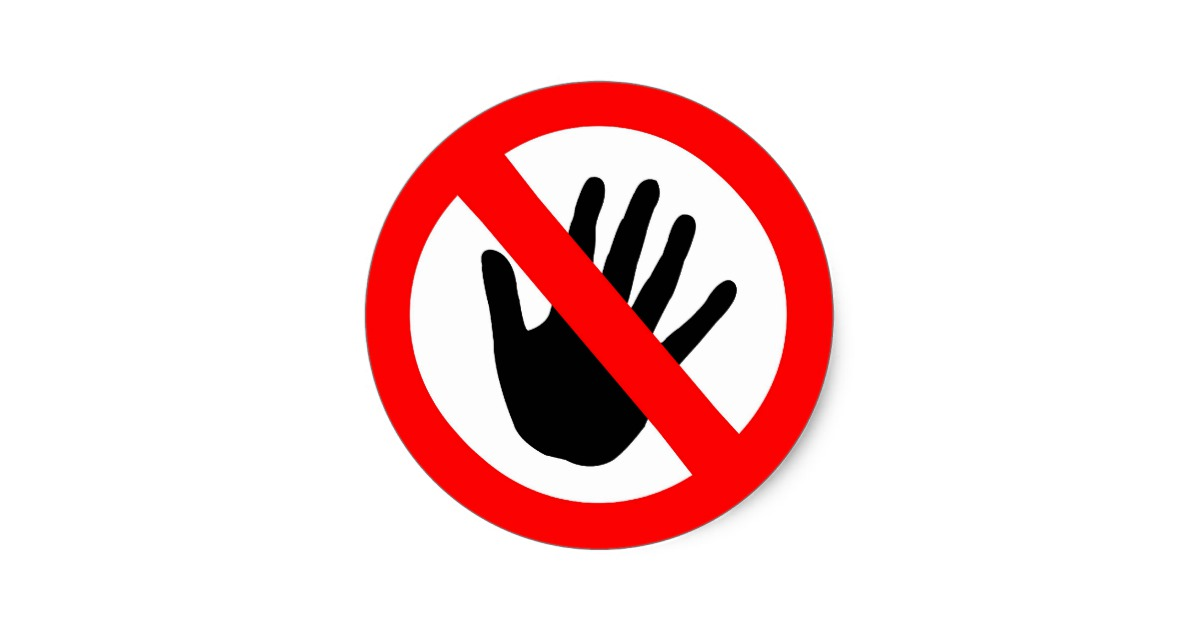 No touching clipart image download No Touching Cliparts - Making-The-Web.com image download