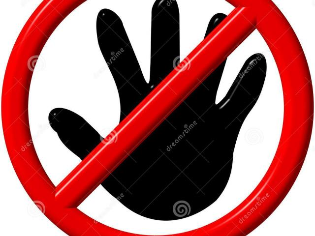 No touching clipart vector black and white download No Touching Cliparts 16 - 425 X 217 - Making-The-Web.com vector black and white download