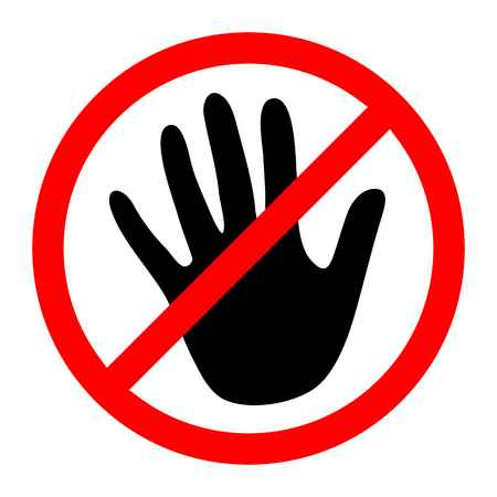 No touching clipart clipart freeuse Clip Art No Touching Clipart - Clip Art Li #458802 ... clipart freeuse