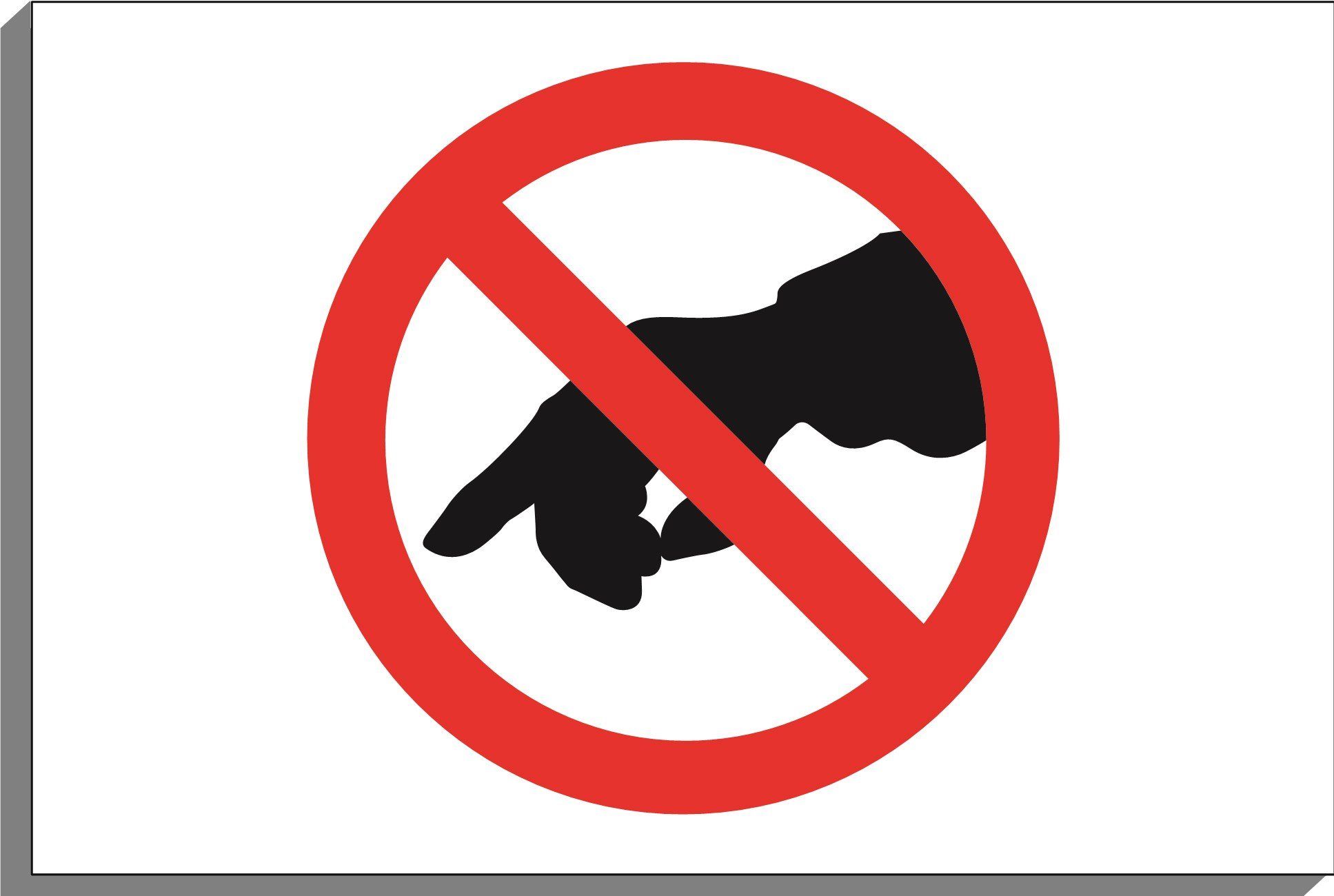 No touching sign clipart svg freeuse library No touching clipart 7 » Clipart Portal svg freeuse library