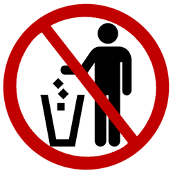 No trash clipart vector freeuse No Trash Cliparts - Cliparts Zone vector freeuse