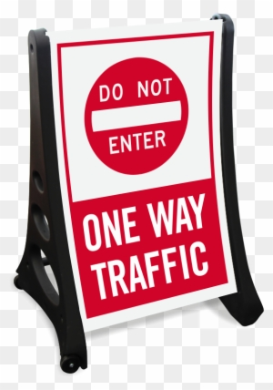 No trespassing sign clipart banner library download Dont Enter, One-way Traffic Portable Sidewalk Sign ... banner library download