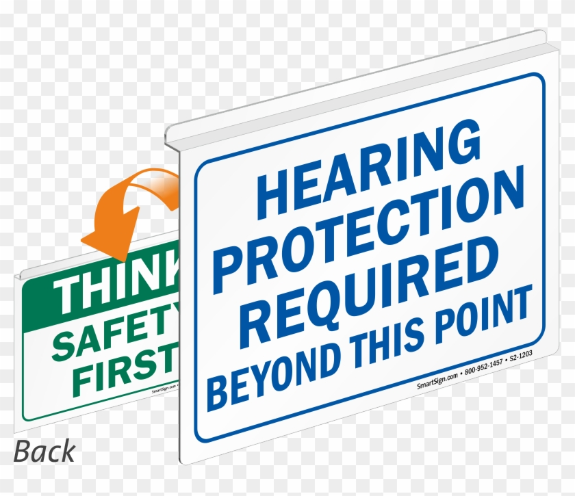 No trespassing sign clipart clipart transparent stock Hearing Protection Required Safety First Sign - Signmission ... clipart transparent stock