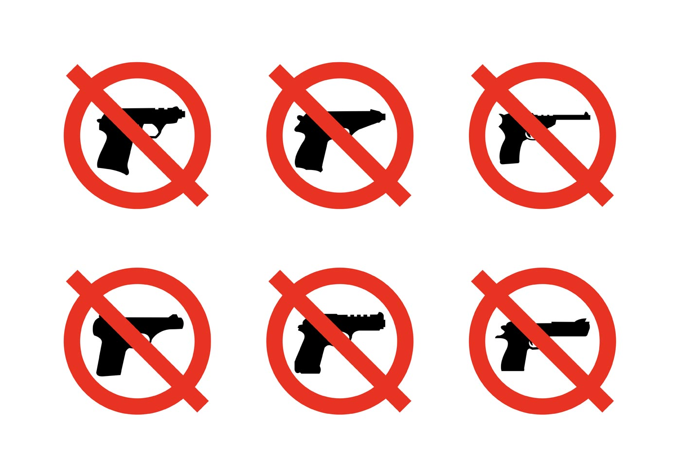 No weapons sign clipart jpg black and white library No Guns Allowed Free Vector Art - (9 Free Downloads) jpg black and white library