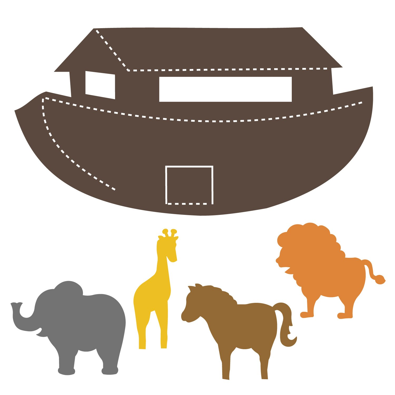 Noah s ark animals clipart 1500 x 1500 vector library Noah\'s Ark Set #3 vector library