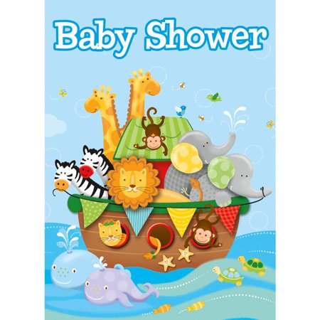 Noah-s ark baby shower clipart image royalty free download Noah\'s Ark Baby Shower Invitations, 8-Count image royalty free download