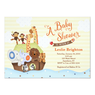 Noah-s ark baby shower clipart picture free download SS Noah / Noah\'s Ark Baby Shower Invitation picture free download
