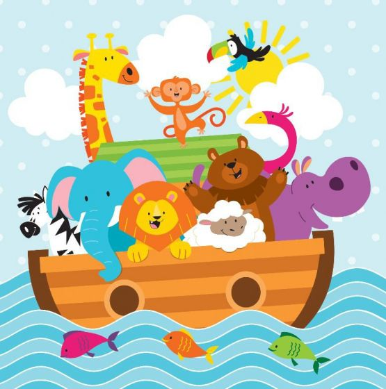 Noah-s ark baby shower clipart picture library download 16 Pack Baby Shower Noahs Ark Luncheon Napkins - 33cmx 33cm picture library download