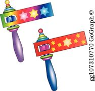 Noisemaker clipart picture free Noisemaker Clip Art - Royalty Free - GoGraph picture free