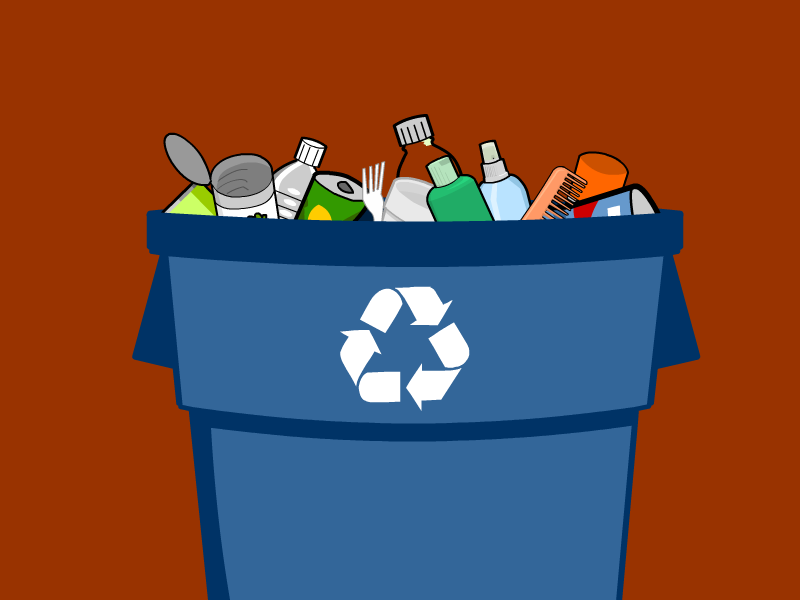 Non biodegradable waste examples clipart