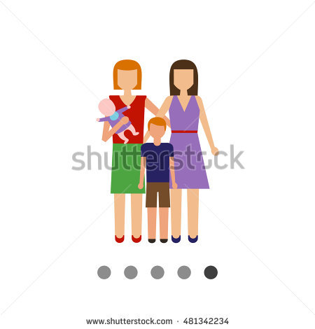 Non traditional family clipart image library stock Nontraditional Family Stock Vector 481342234 - Shutterstock image library stock