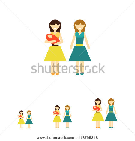 Non traditional family clipart banner black and white library Non-traditional Family Stock Photos, Royalty-Free Images & Vectors ... banner black and white library