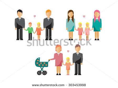 Non traditional family clipart graphic freeuse library Nontraditional Stock Photos, Royalty-Free Images & Vectors ... graphic freeuse library