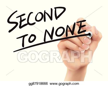 None clipart image transparent stock Vector Art - Second to none written by hand. Clipart Drawing ... image transparent stock