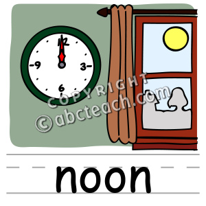 Noon clipart graphic royalty free library Clip Art Basic Words Noon | Clipart Panda - Free Clipart Images graphic royalty free library