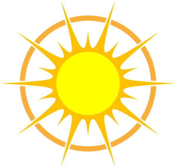 Noon time sun clipart png black and white stock What does 'Peak Sun Hours' mean? - The Solar Advantage png black and white stock