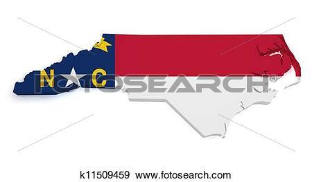 North carolina map clipart cartoon royalty free download Stock Illustration of North Carolina Map 3d Shape k11509459 ... royalty free download