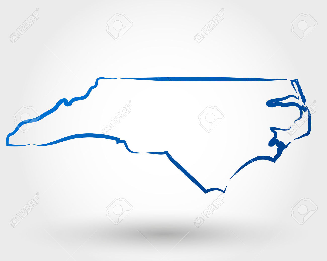 North carolina map clipart cartoon picture black and white download North carolina outline clipart - ClipartFest picture black and white download