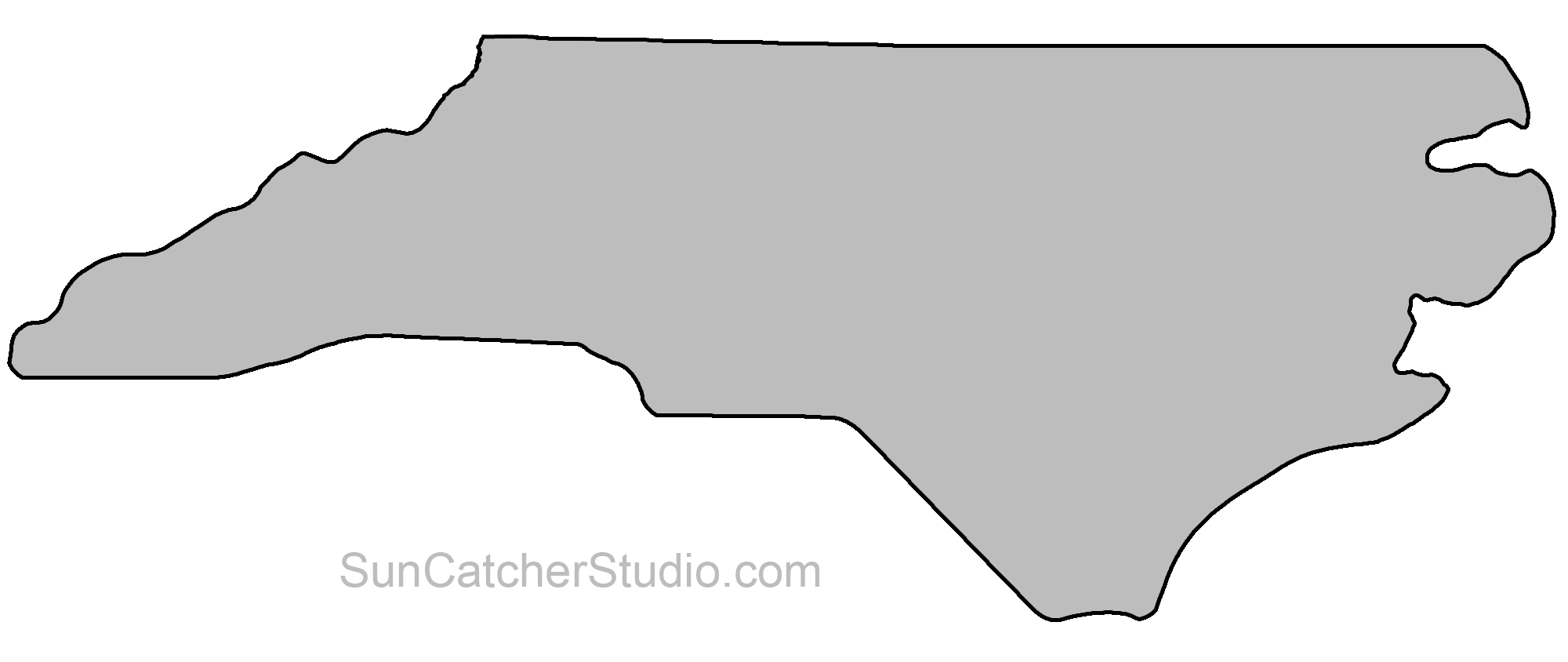 North carolina state clipart picture royalty free North Carolina - Map Outline, Printable State, Shape, Stencil ... picture royalty free